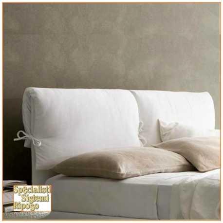 Testata letto imbottita con cuscino
