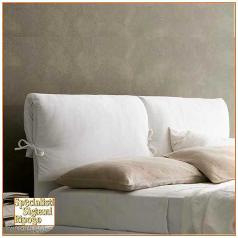 Testata letto imbottita con cuscino specialisti sistemi riposo - Cuscini spalliera letto ...
