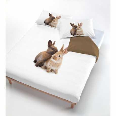 Copripiumone fantasia coniglietti