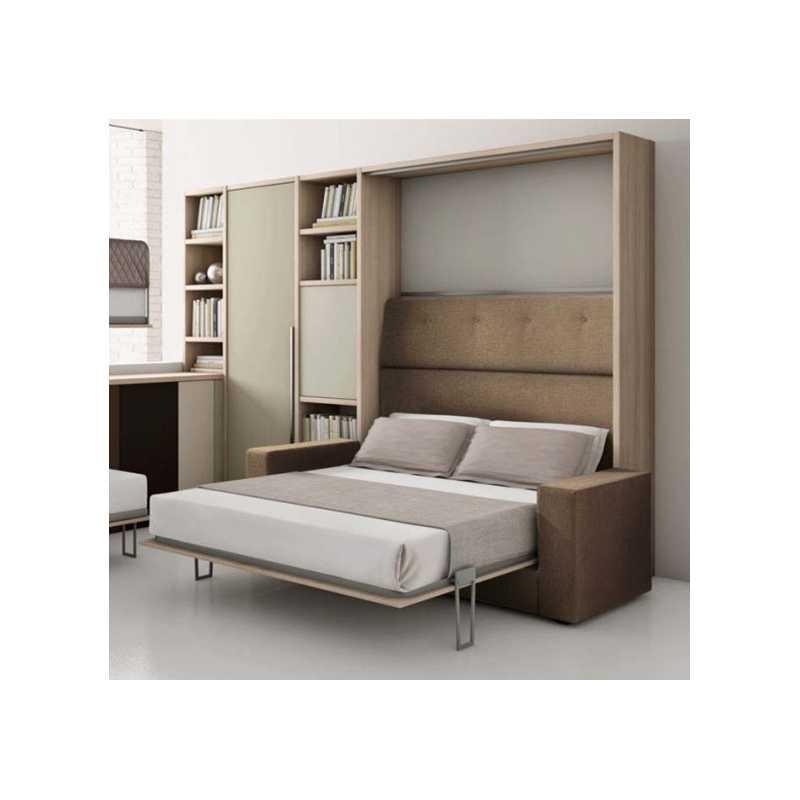 Letto a ribalta con divano for Mobile con letto a scomparsa ikea