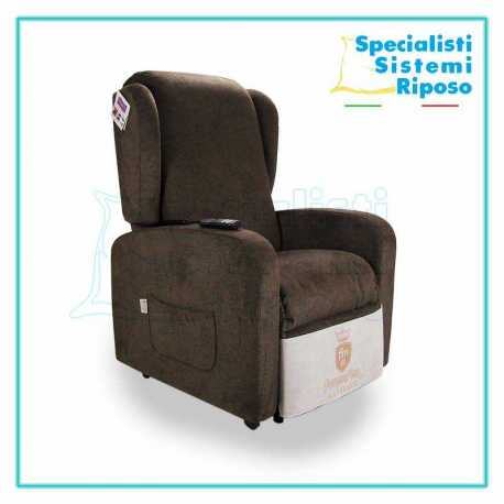 Poltrona relax Comfort a 2 motori reclinabile lift