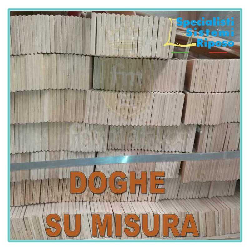 Doghe singole in legno di faggio su misura ricambio per rete
