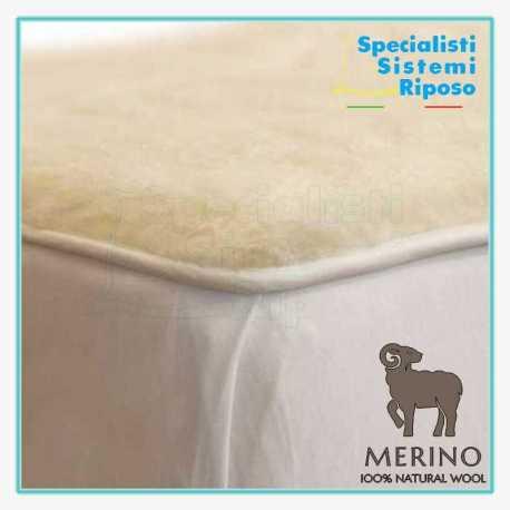 Copri materasso in pura lana merino con fascia ed elastico su misura