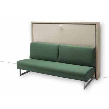 Letto a scomparsa orizzontale con divano (Art. 4013)