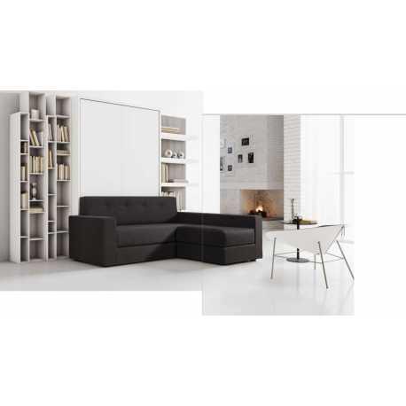 Letto a ribalta con divano ad angolo