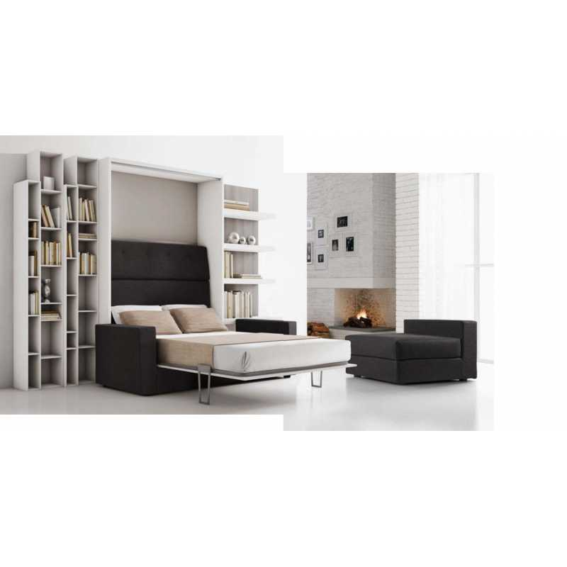 Letto a ribalta con divano ad angolo - Divano letto ad angolo ...