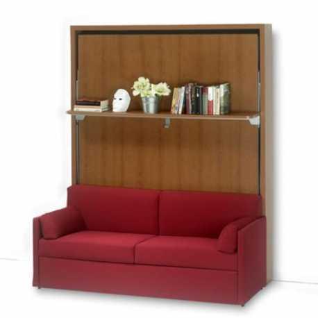 Letto a scomparsa verticale con divano (Art. 4014)