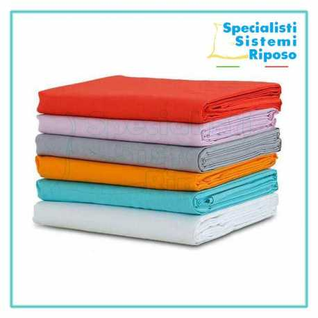 Set lenzuola su misura completo di parte sotto elastico sopra e federe