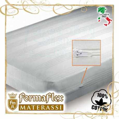Fodera copri materasso a sacco con cerniera in cotone bianco su misura
