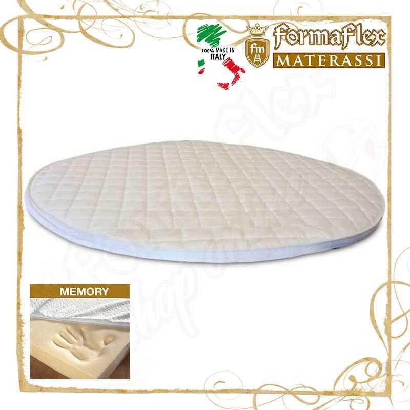 Copri materasso topper rotondo in memory con fascia