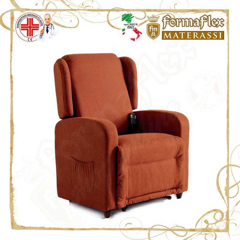 Poltrona relax Comfort a 2 motori reclinabile lift modello 2P