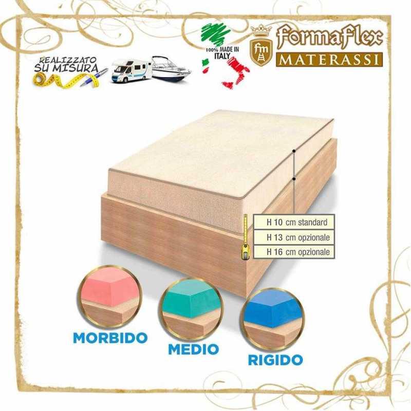 Materassi Su Misura Torino.Materasso In Memory Per Camper E Caravan Su Misura Non Sagomato