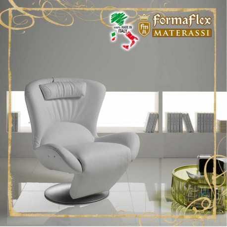 Poltrona design relax 1 basculante modello 44P con cuscino poggiatesta
