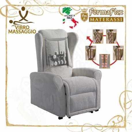 Poltrona relax modello 6P vibro massaggio 5 programmi 2 motori lift